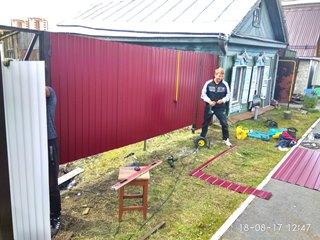 Забор из профнастила Озёрск - цены с установкой под ключ от 1115 руб.